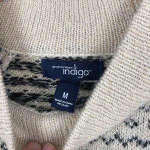Indigo Sweaters - {NEW} Cozy Funnel Neck Nordic Sweater